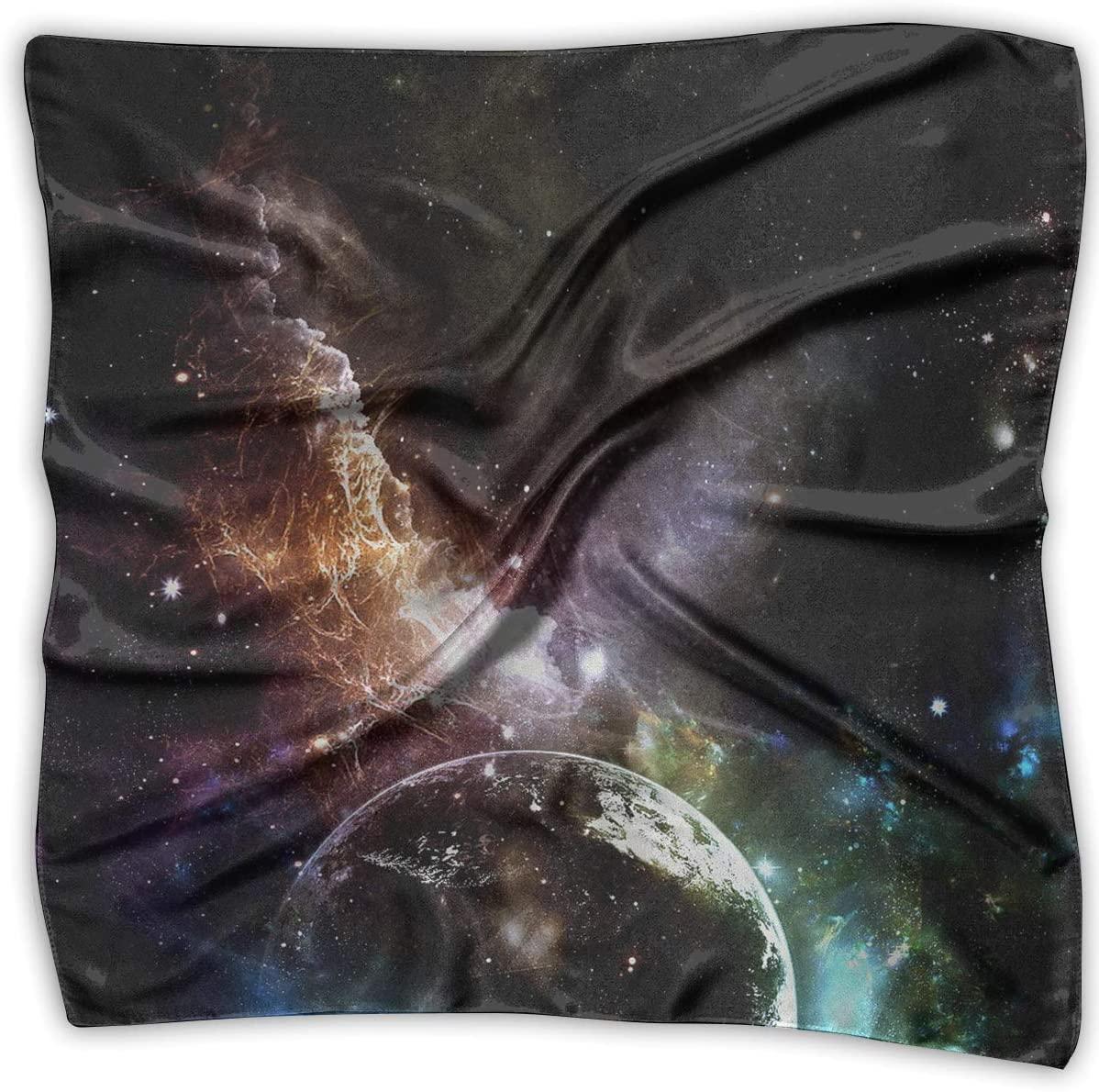 WFIRE Outer Space Nebula Square Handkerchiefs Scarf Shawl Bandanas Headscarf Neckerchief Tie Hair Scarf