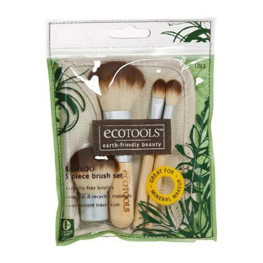 Authentic Organic Natural EcoTools BAMBOO Starter Makeup Brush Set Eco Tools Make up (11 piece makeup and starter set)