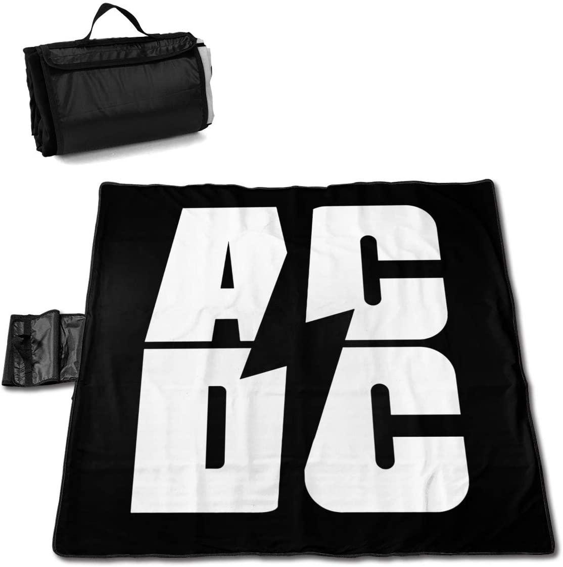 Htu Ac-Dc Portable Printed Picnic Blanket Waterproof 59x57(in)
