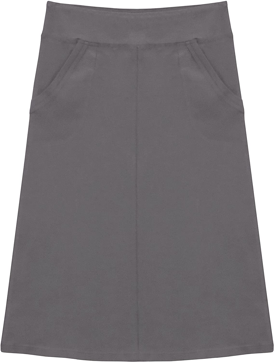 Baby'O Girl's (Children's) Stretch Cotton Knit Panel Below The Knee Skirt