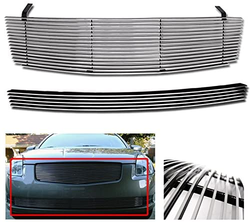 ZMAUTOPARTS Front Upper + Bumper Billet Grille Aluminum Polished Combo For Maxima 4Dr