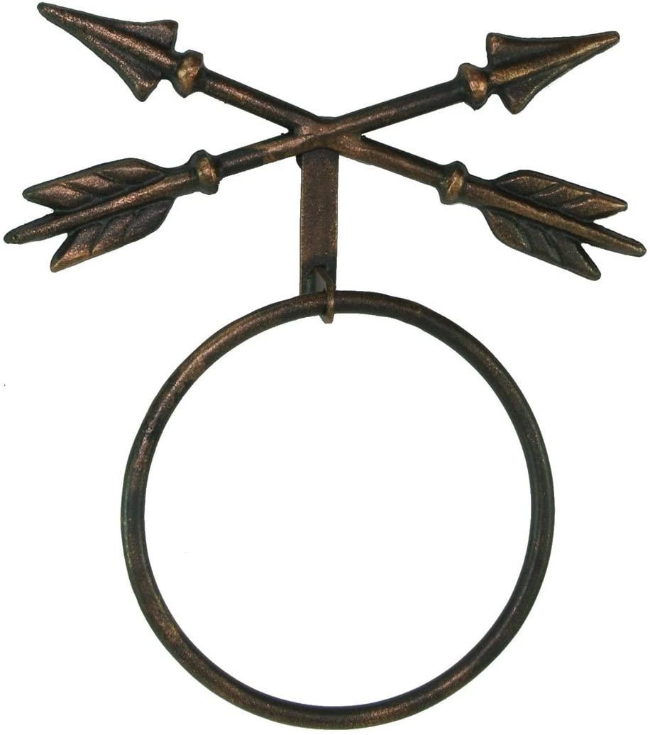 Western Crossed Arrow Metal Towel Ring