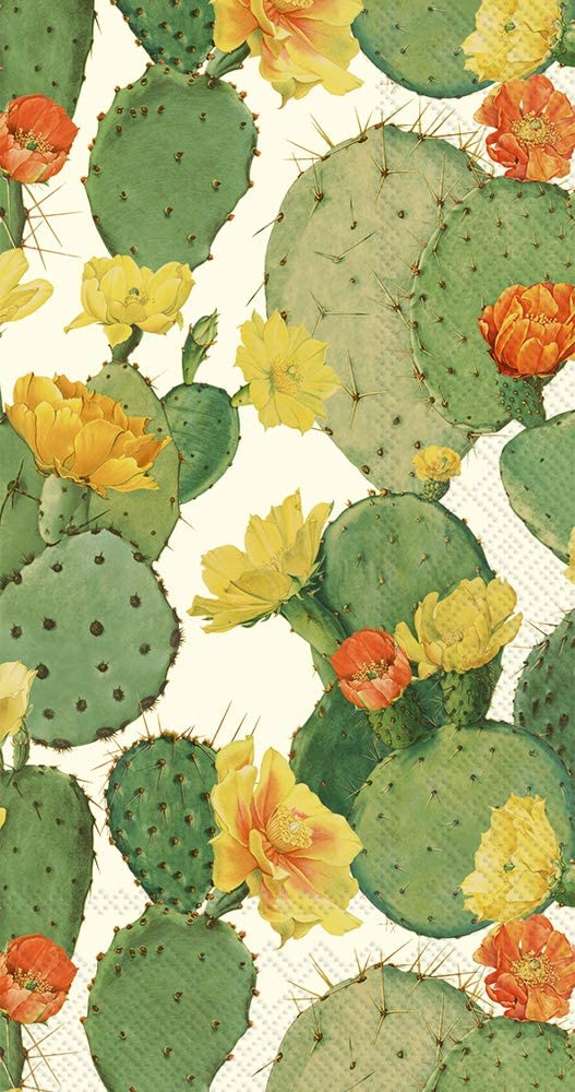 Ideal Home Range 3-Ply Paper Guest Towel Napkins 16-Count | Prickly Pear Cactus Cream