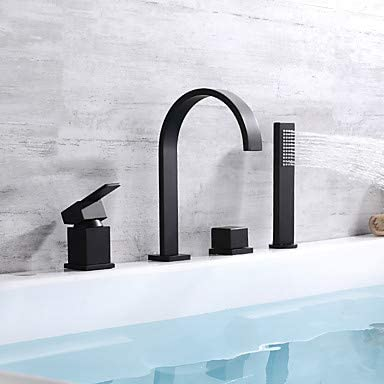 Bathtub Faucet - Contemporary Painting Deck Mounted Brass Valve