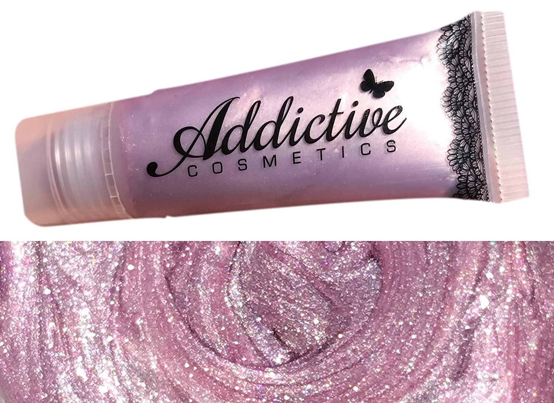 Breast Cancer Awareness Pink Lip Gloss by Addictive Cosmetics- Moisturizing and Waterproof Lip Junkie- Vegan Makeup Cruelty Free Cosmetics- Made in the USA- I <3 BOOBIES