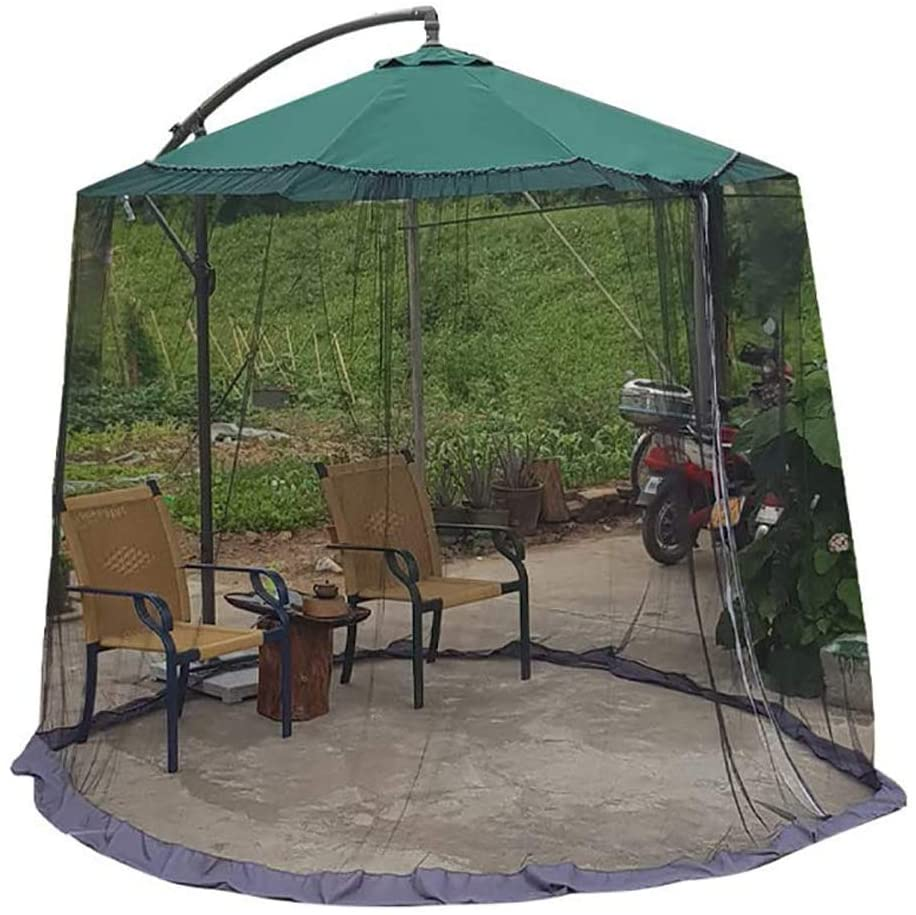 Outdoor Garden Umbrella Parasol Patio Table Mosquito Net Cover Screen, Parasol Converter Cover Turn Your Parasol into a Gazebo