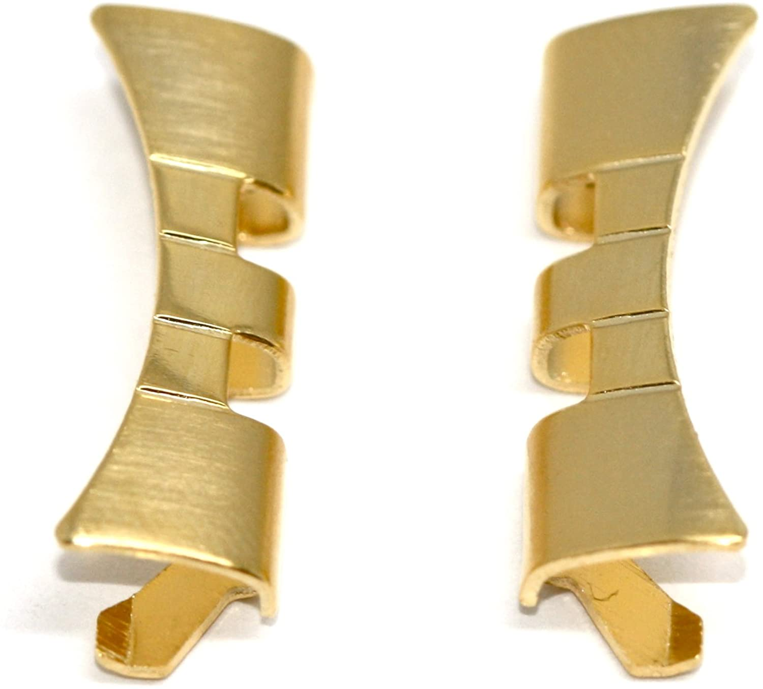 20MM Gold Stainless Steel Curved Watch Band Link Ends FITS Jubilee - 2PC