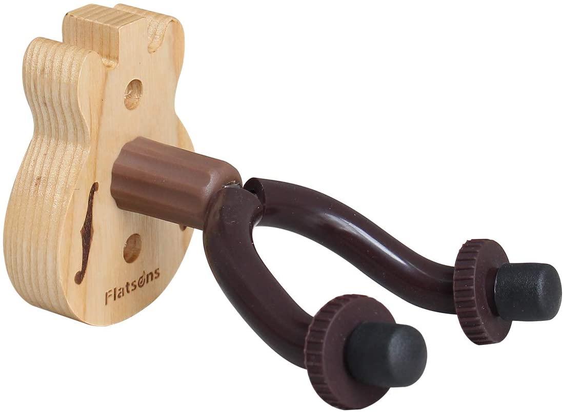 Flatsons Wood Guitar Hanger Multi Hanger Wall Hook Holder Stand for Bass Electric Acoustic Guitar Ukulele(FH-06W )