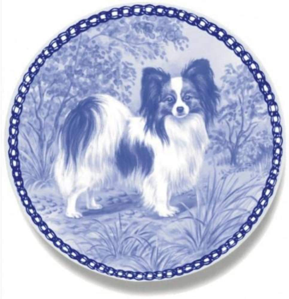 Papillon Dog Porcelain Plate For all Dog Lovers Size 7.61 inches