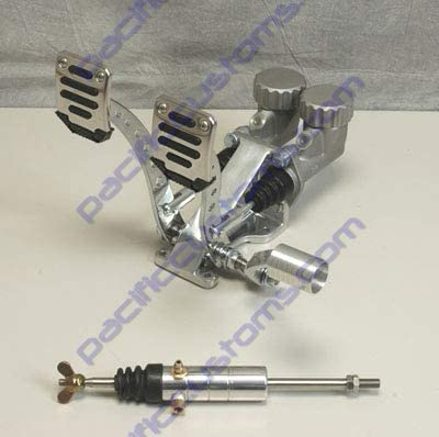 Pedal Assembly With Roller Throttle Round Reservoirs 3/4 Brake 5/8 Clutch And Slave Dune Bug Buggy Sandrail Atv Baja Bug Trike