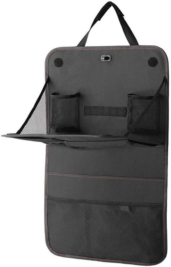 XIGUAN Black Car Rear Seat Storage Bag Protector Cover Waterproof Anti-Kick Pad Anti-Footprint