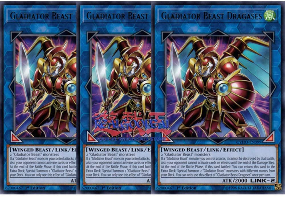 x3 Gladiator Beast Dragases MP19-EN150 Common 1st
