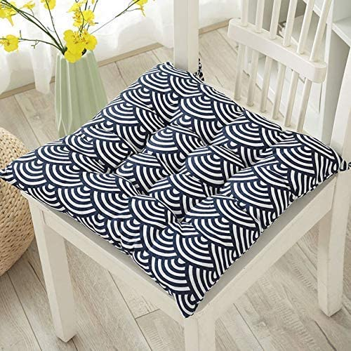WEIZI Garden Chair Cushion Seat Cushion Recliner Cushion Back Cushion Low-Back Cushion and tie Chair Cushion for Office Chair and at Home Soft Foam (Surf 40 40)
