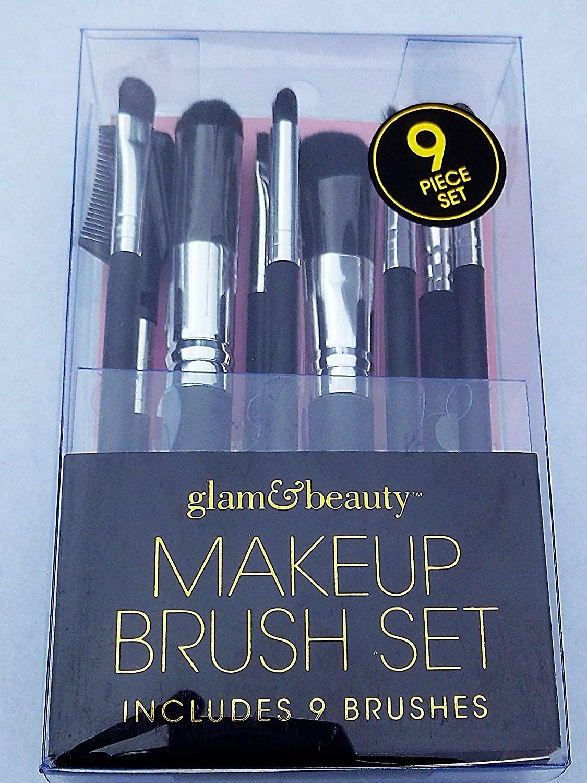 Glam & Beauty Makeup Brush Set 9 PCS