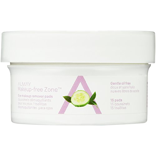 Almay Oil Free Eye Makeup Remover Pads, 15 Count in 1 box