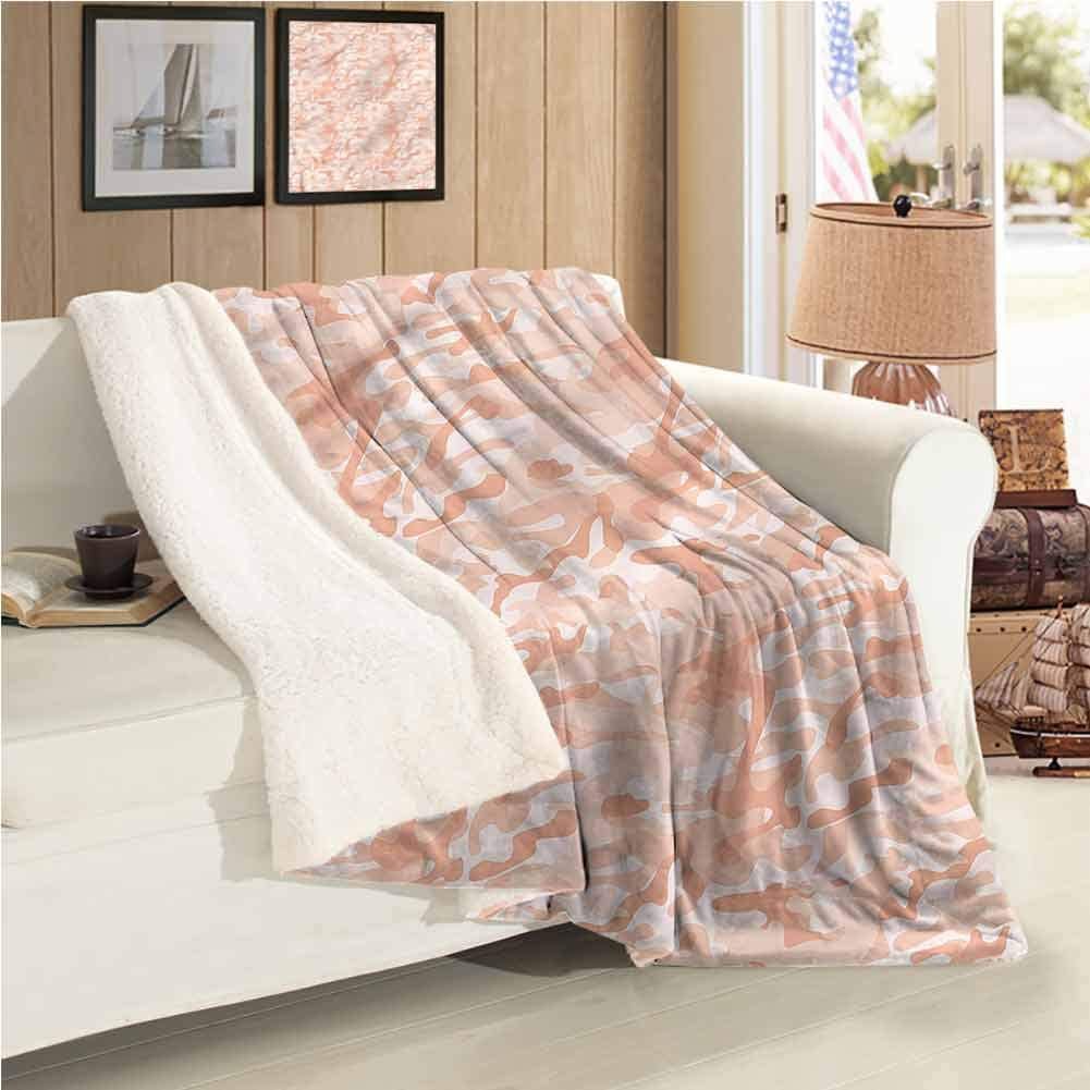 Throw Blanket Baby Warm Blanket Soft Peach Tones Soft Warm Blanket Plush Microfiber, Suitable for Baby Bed W59 xL47