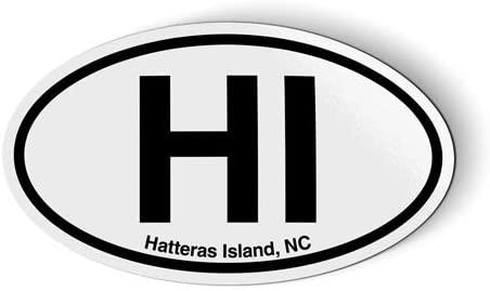 Stickers & Tees HI Hatteras Island NC North Carolina Oval - Car Magnet - 5
