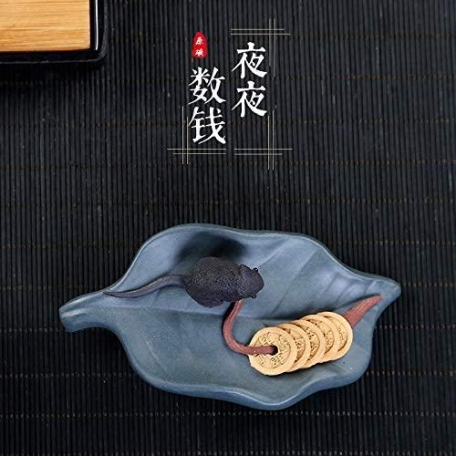 SHENLIJUAN purple clay sculpture tea accessories tea pet ornaments to count the money every night (Color : Purple mud)