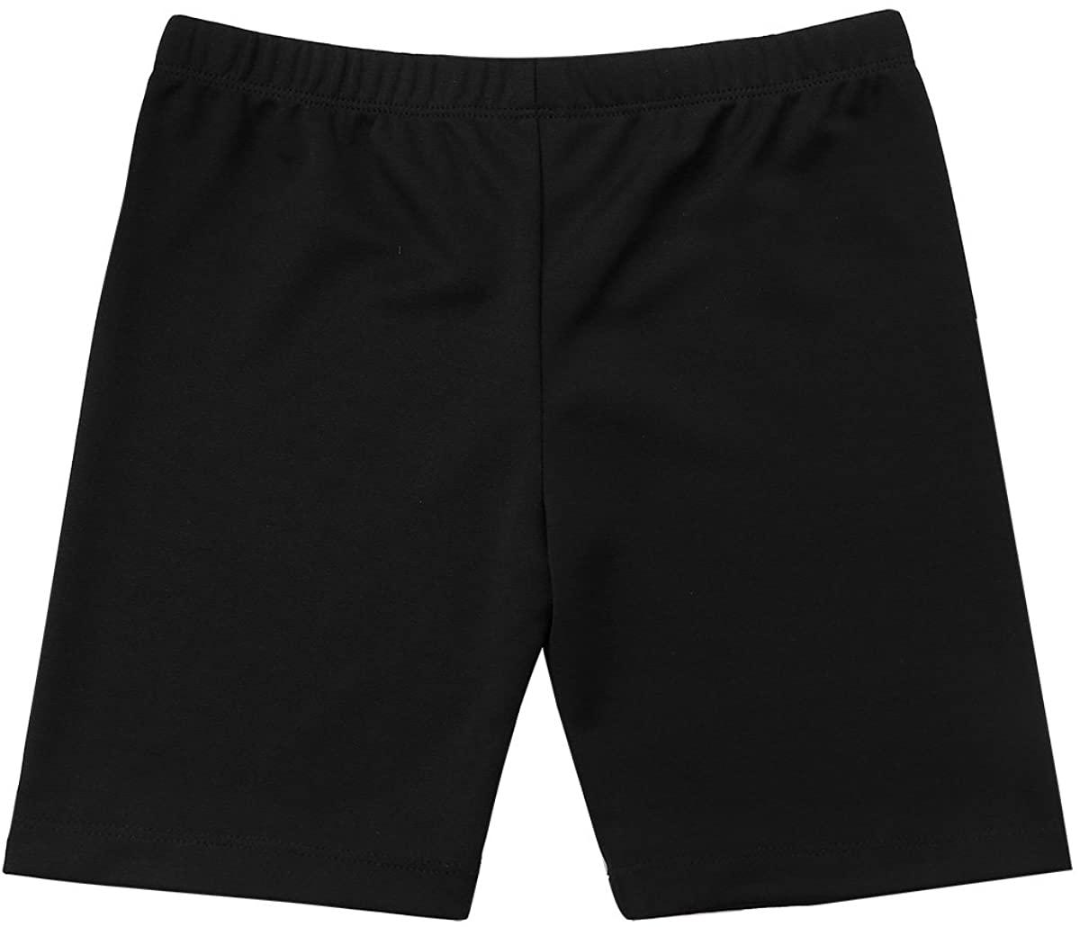 iEFiEL Girls Kids Stretch Bike Shorts Gym Gymnastics Ballet Dance Underwear Bottoms for Sports Workout