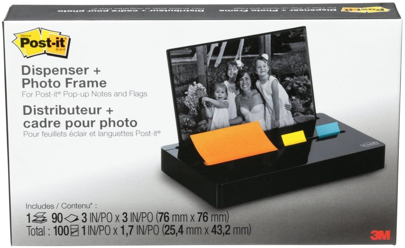3M Post-it Pop-up Notes Pop-up Note/Flag Dispenser + Photo Frame with 3 x 3 Pad, 50 1