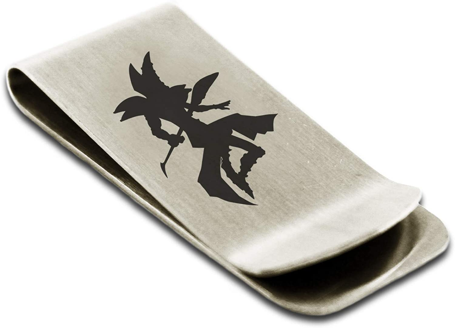 Yu-Gi-Oh! Dark Magician Silhouette Stainless Steel Money Clip Credit Card Holder