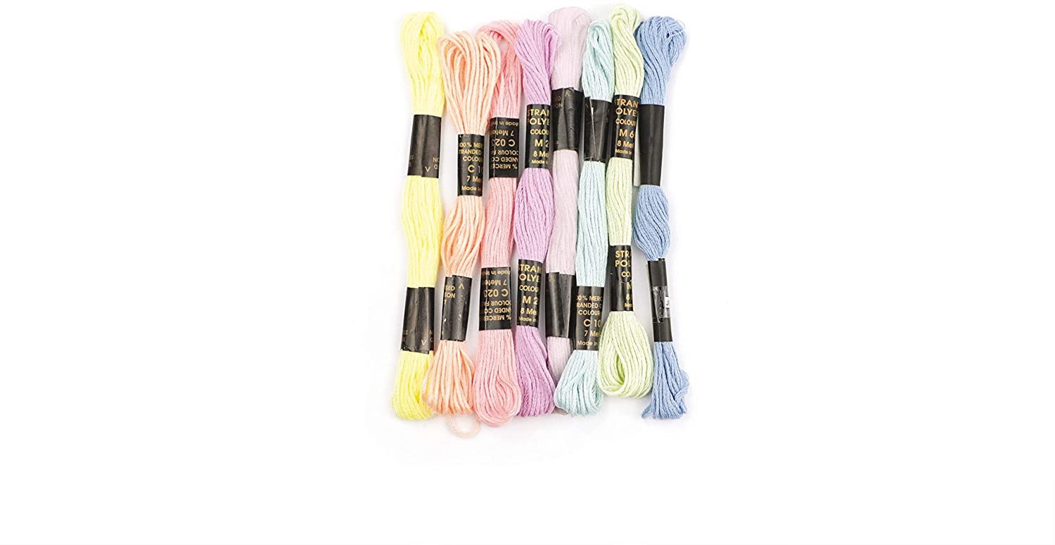 Graine Créative 8 skeins of Polyester Yarn 7 m - Pastel
