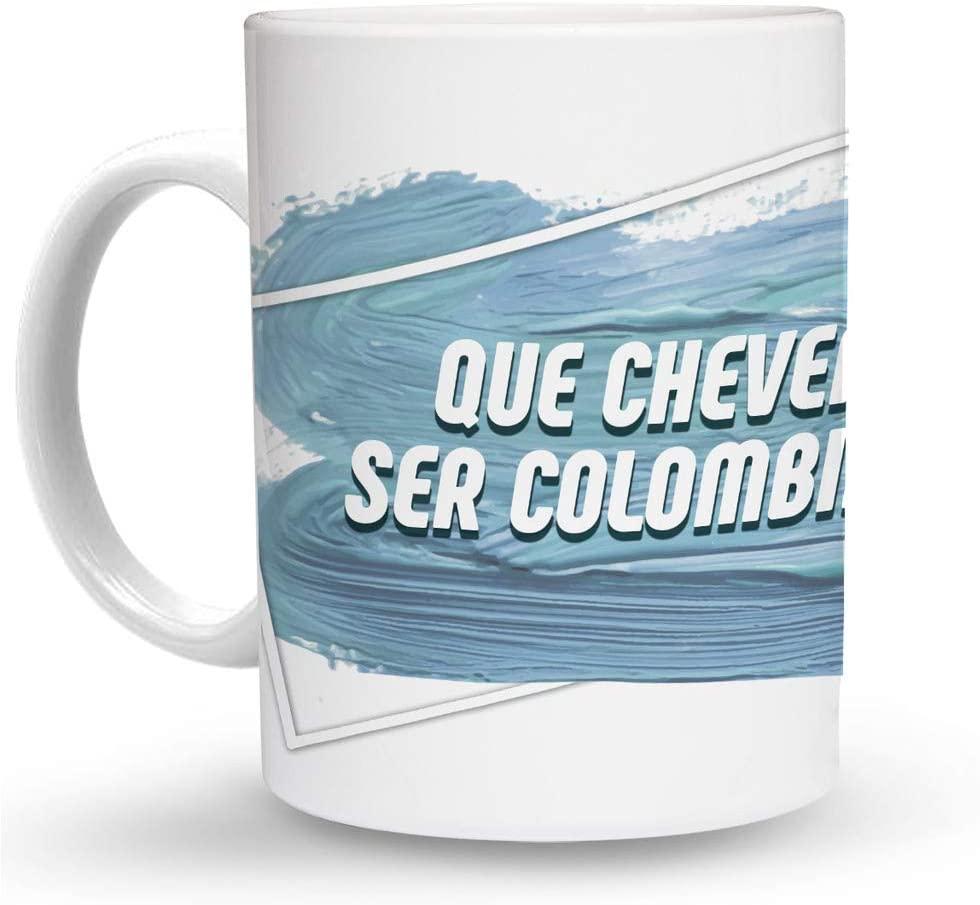 Makoroni - QUE CHEVERE SER COLOMBIANO! 6 oz Ceramic Espresso Shot Mug/Cup Design#21