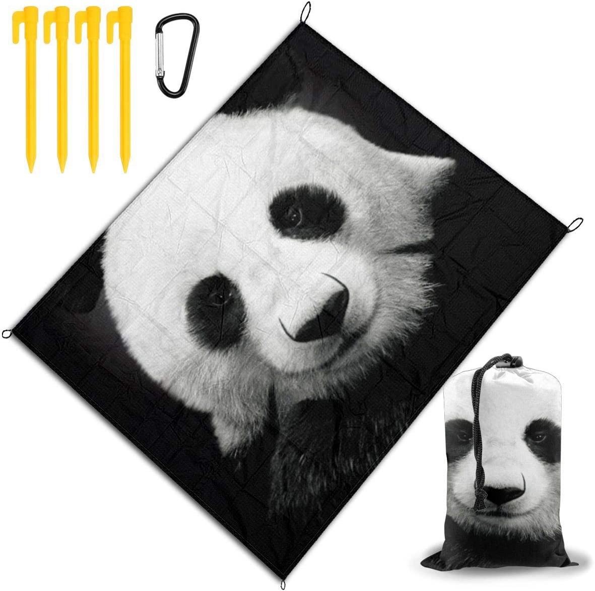 JEKYDOSD Animal Panda Printed Picnic Mat,Travel Outdoor Beach Blanket Durable Waterproof Sand Beach Mat Blanket for Travel Camping Hiking 67