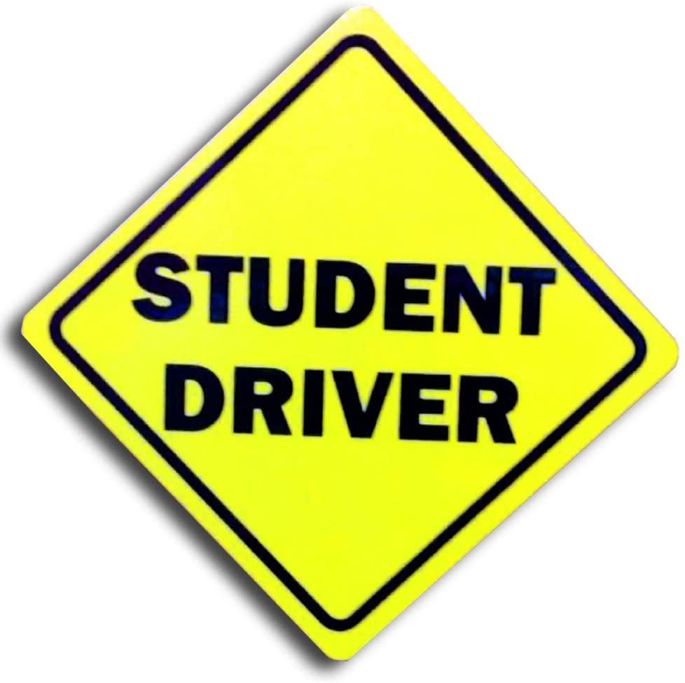 CoolHubcaps Reflective Student Driver Auto Magnet