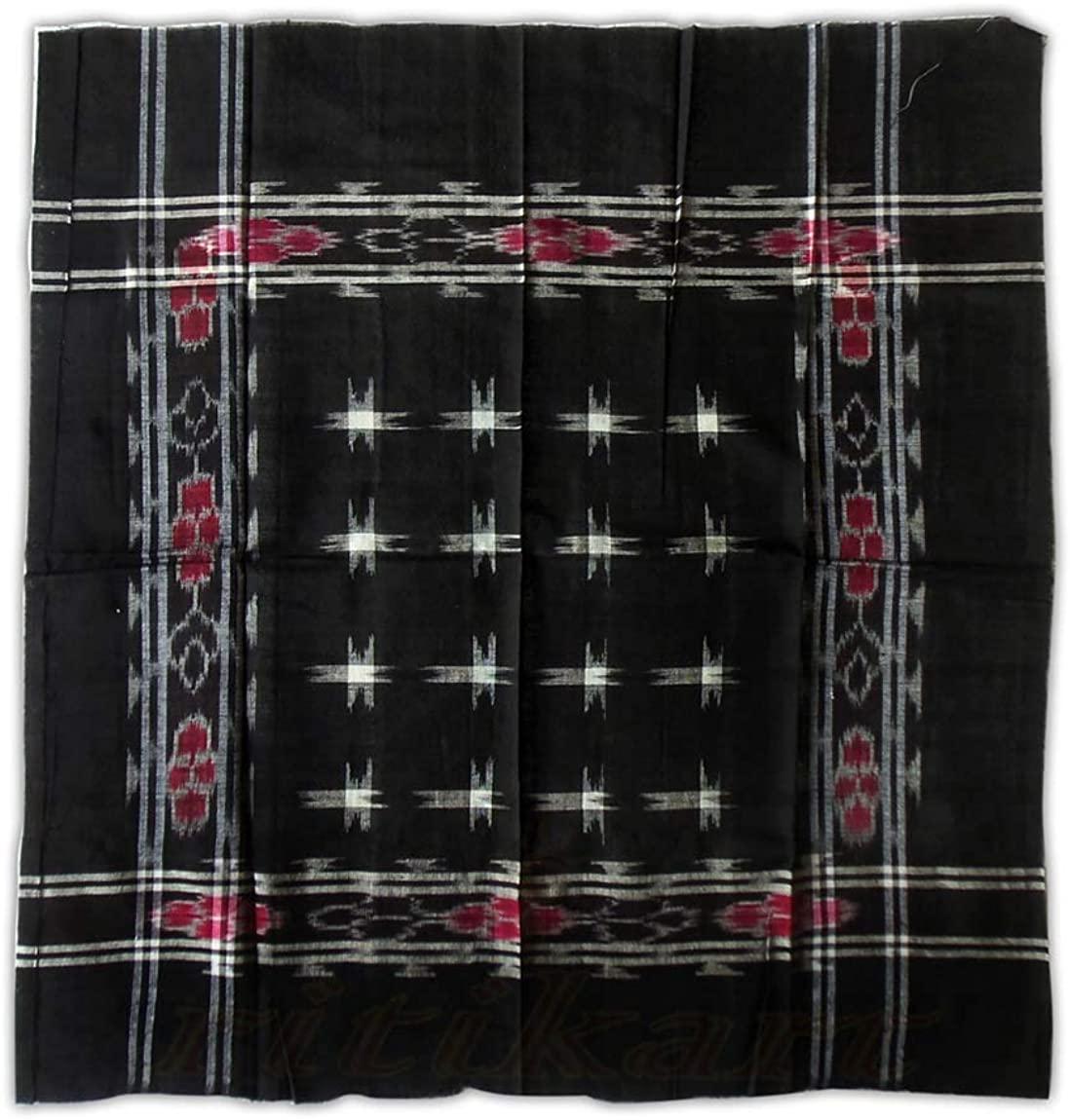 Indikart Export Sambalpuri Cotton 16 Star Black Design Rumal