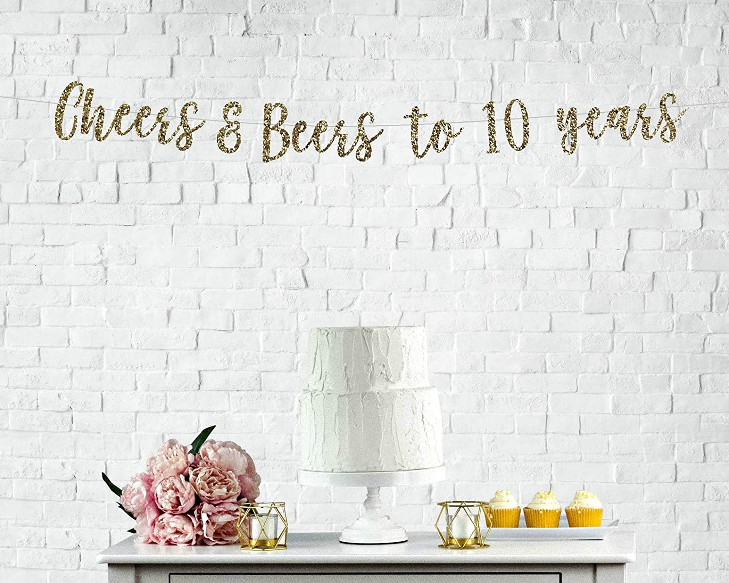 Cheers & Beers to 10 Years Banner Cheers to 10 Years Banner 10 Yearsoved 10 Years Blessed Happy 10Th Birthday 10Th Anniversary
