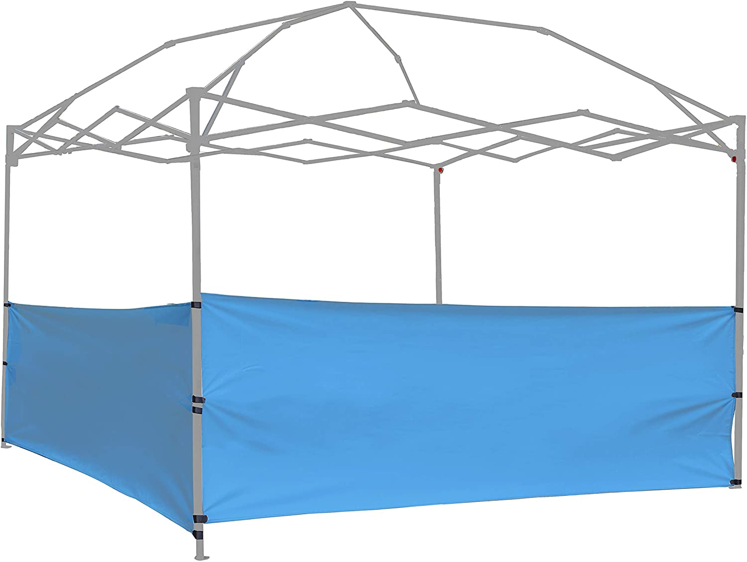 NINAT Canopy Sunwall Two Half Gazebo Privacy Panel Sidewalls Sunshade Screen Replacement Kit for 10ft Canopies Gazebo Patio Tent Waterproof 2 Packs Half Side Walls Only Blue