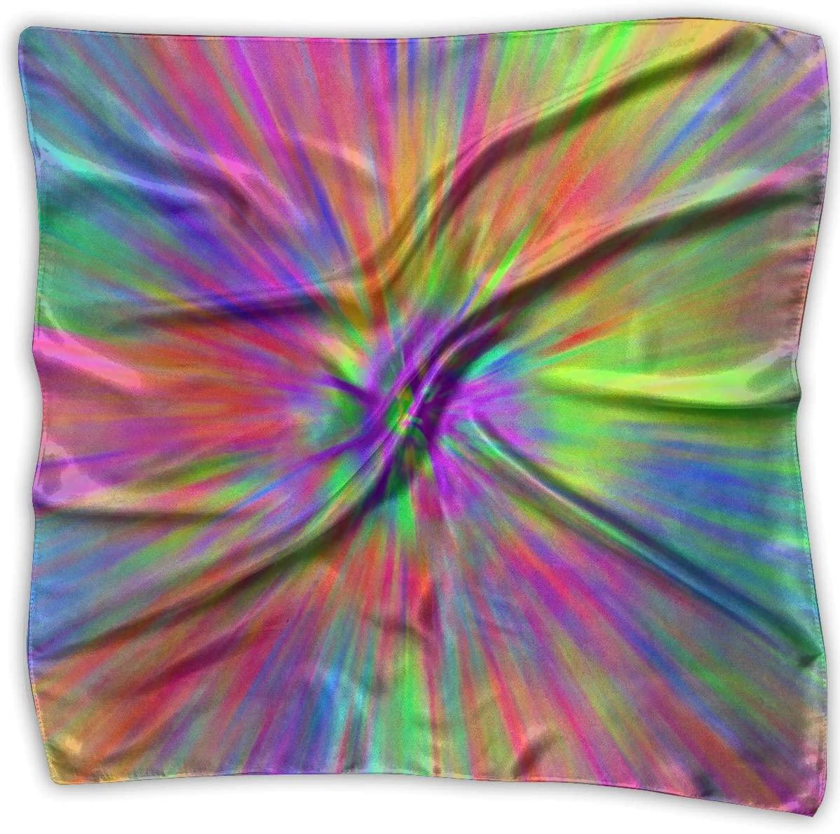 WFIRE Tye Dye Patterns Square Handkerchiefs Scarf Shawl Bandanas Headscarf Neckerchief Tie Hair Scarf