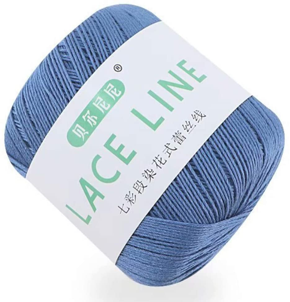 minansostey 13 Colors Dyeing Gradient Colorful Cotton Lace Yarn DIY Hand Knitting Crochet Sewing Thread for Dress Scarf Doll Sweater