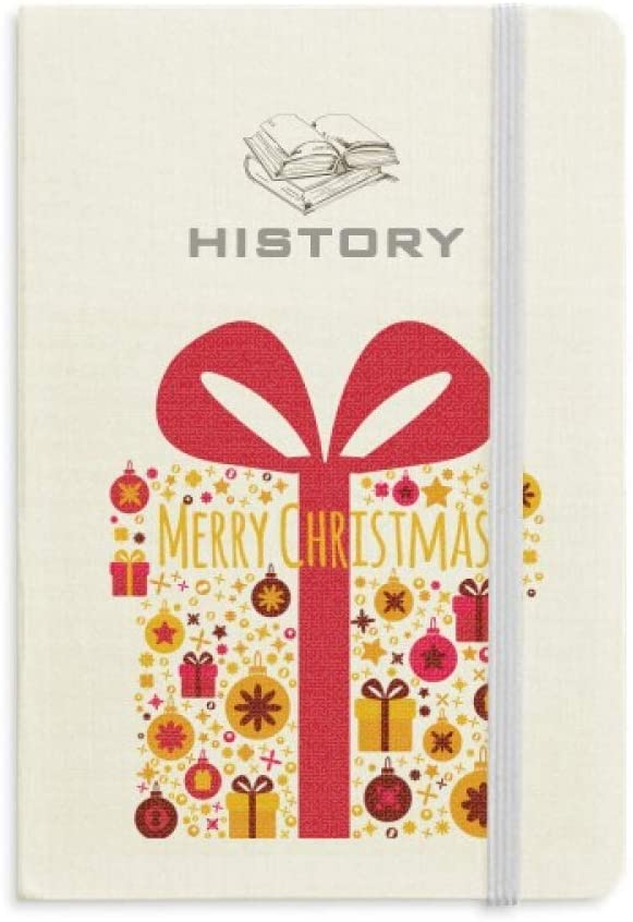 Christmas Gift Transparent Festival Pattern History Notebook Classic Journal Diary A5