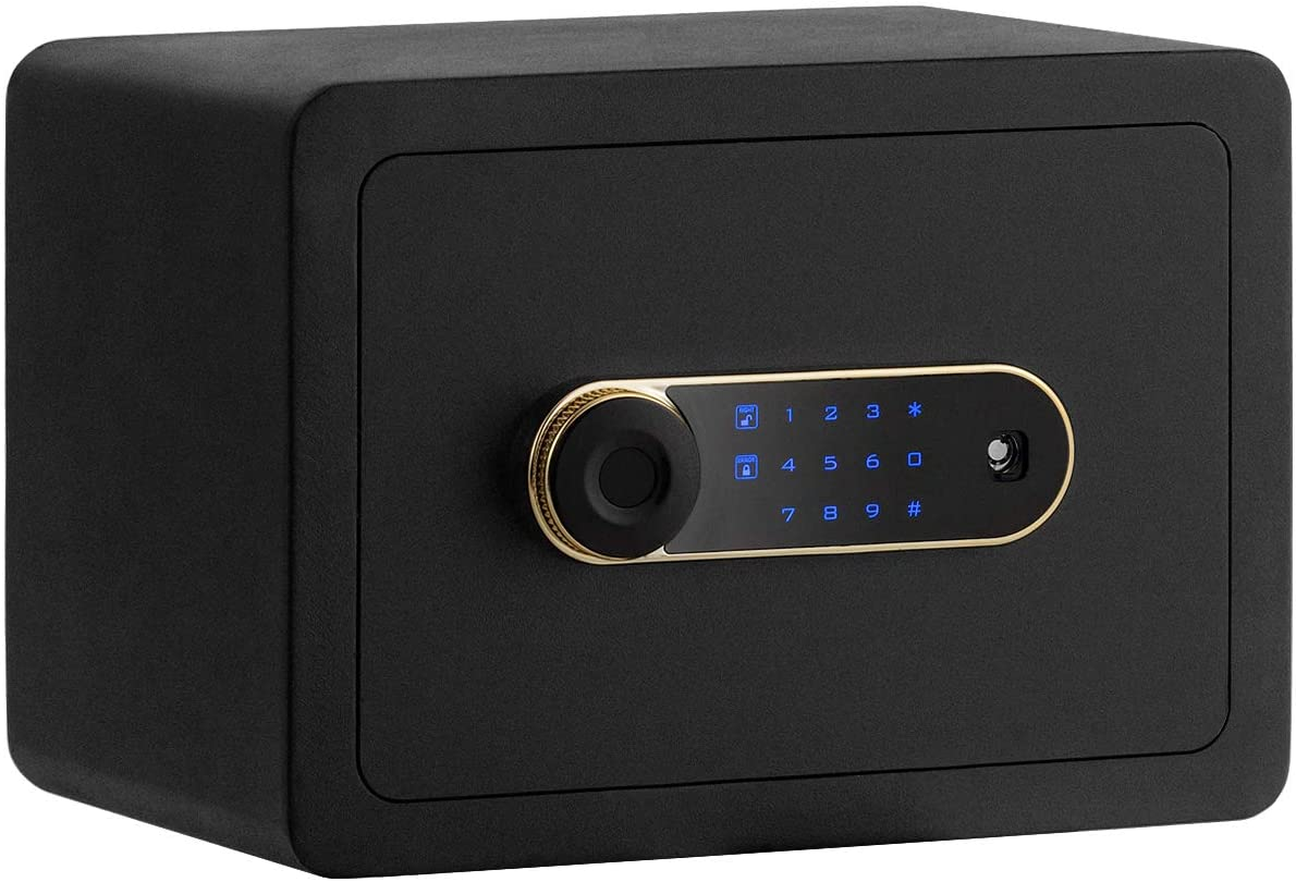 Safstar Security Safe Box, Electronic Steel Safe with Keypad and Inner LED Light for Home & Office, Digital Safe Deposit Box for Money Jewelry Valuables, 0.5 Cubic Feet