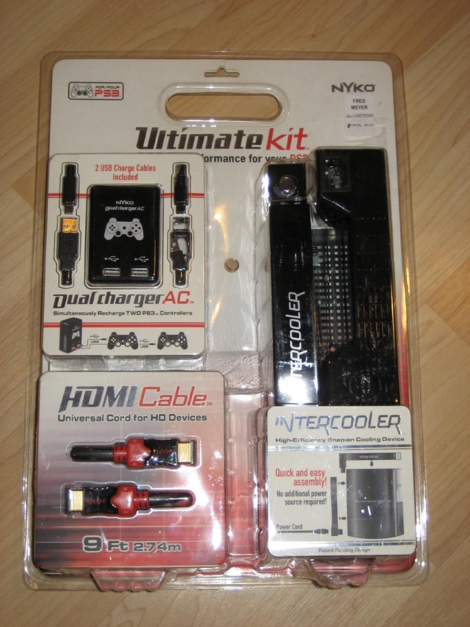PS3 Ultimate Kit with Dual Charger AC / 9FT HDMI Cable / Intercooler