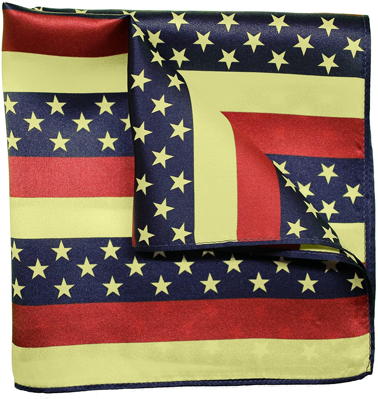 Silk Pocket Square by American Pocket Square Company | Patriotic American Flag, Pure Silk, Premium Quality for Men: