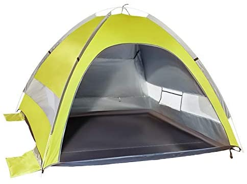 Hym Outdoor Tent Double Double Door Automatic Portable Dew Shade Beach Tent 200X150X100CM