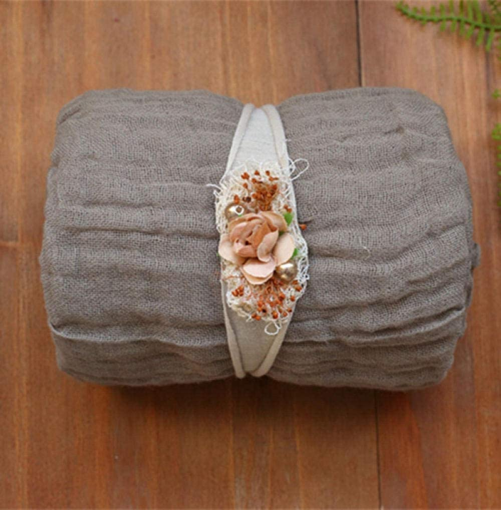 Baby Blanket Milestone-Photography Wrap Set Knit Cotton Wrap Posing Layer Fabric Newborn Baby Swaddle Blanket Photo Props