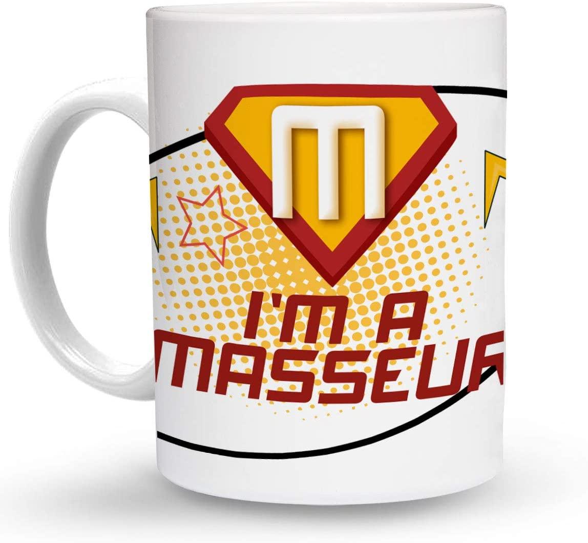 Makoroni - I'M A MASSEUR Career 6 oz Ceramic Espresso Shot Mug/Cup Design#51