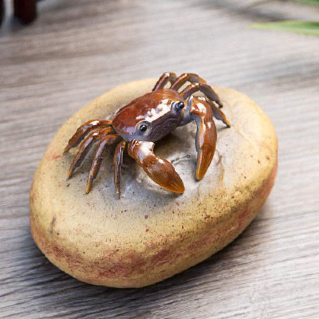 AMITD Ceramics Color Change Tea Pet Creative Crab Decoration Tea Accessory for Home Office Tea Tray Decor