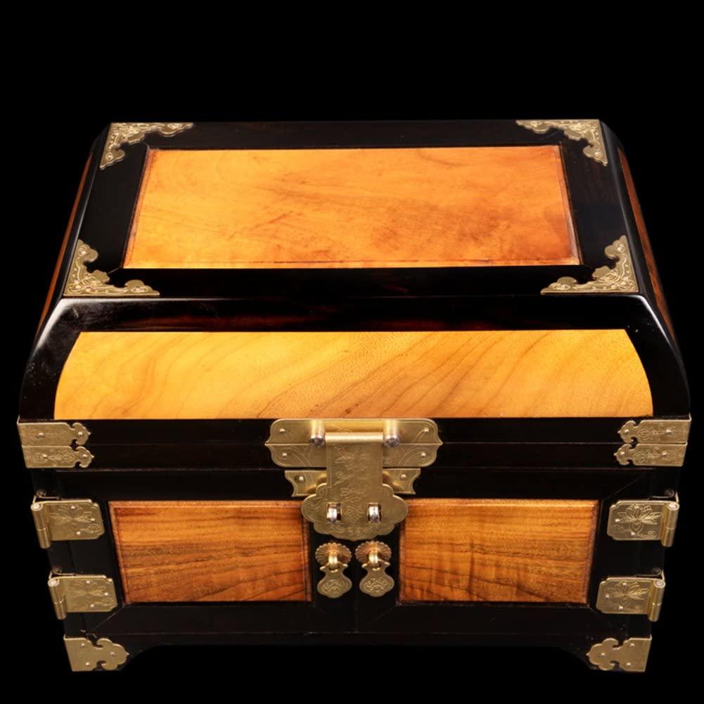 ebony jewelry box Storage Box Storage drawer vanity mirror-A