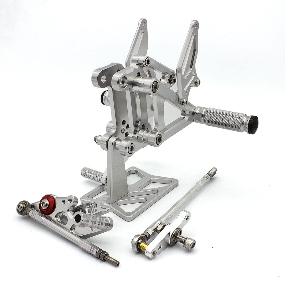 FXCNC Racing Billet Motorcycle Rearsets Foot Pegs Rear Set Footrests Fully Adjustable Foot Boards Fit For MV Agusta F3 675 EAS Brutale 2012 2013 2014 2015 2016 2017