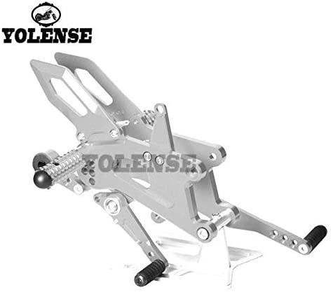 Frames & Fittings for Triumph Daytona 675 675R 2013-2017 Motorcycle Accessories CNC Aluminum Footrest Rear Sets Adjustable Rearset Foot Pegs - (Color: Silver)