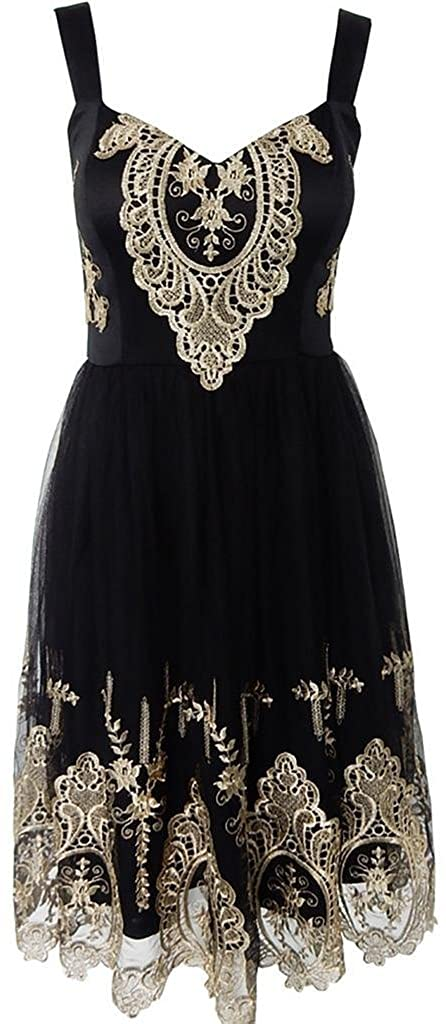 AS503anakla Fashion European style embroidery lace sleeveless mesh fashion evening dresses