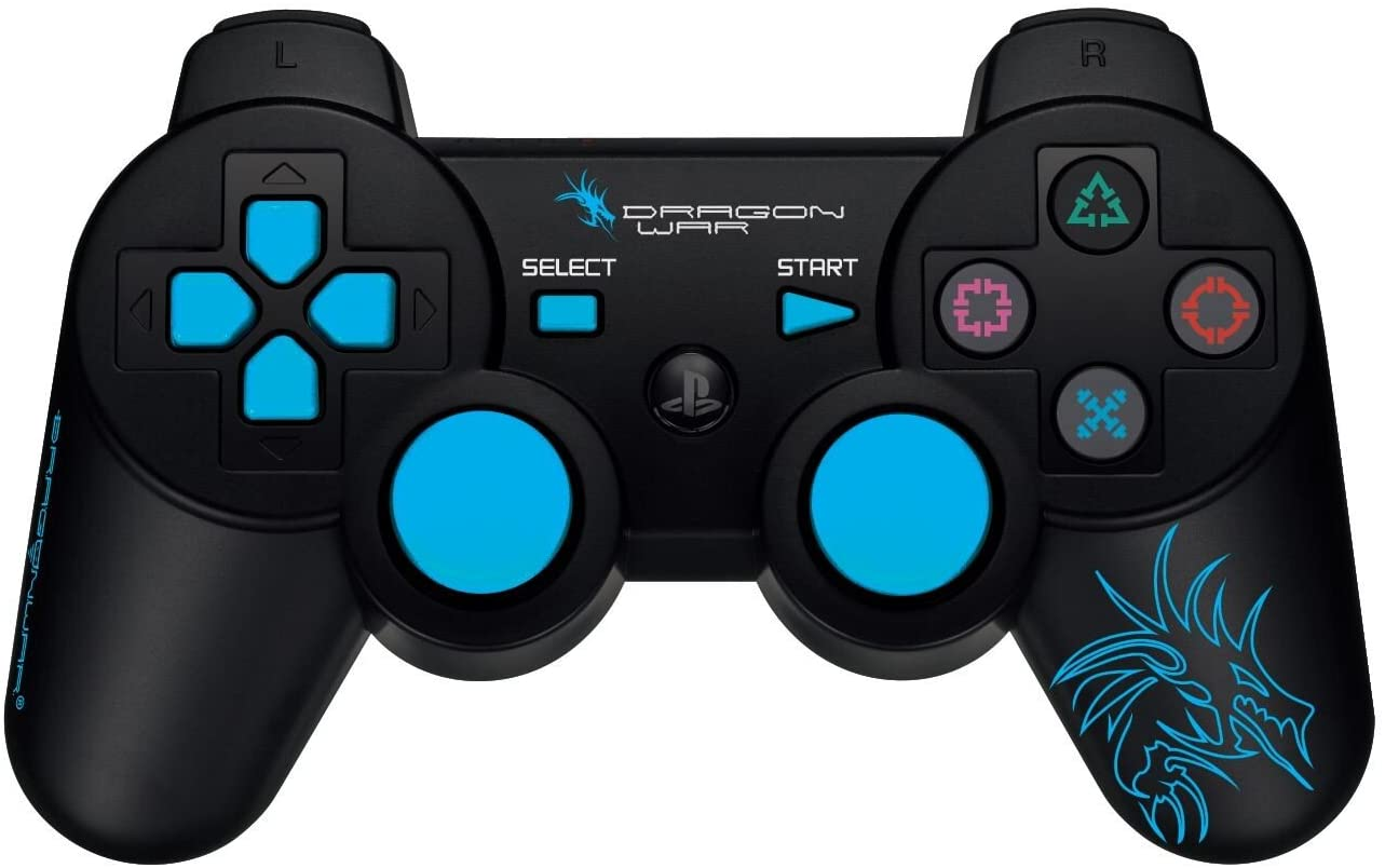 Dragonwar Dragon Shock 17 Key USB 2.0 Wireless Bluetooth Game Controller Gamepad with Full Vibration For PS3