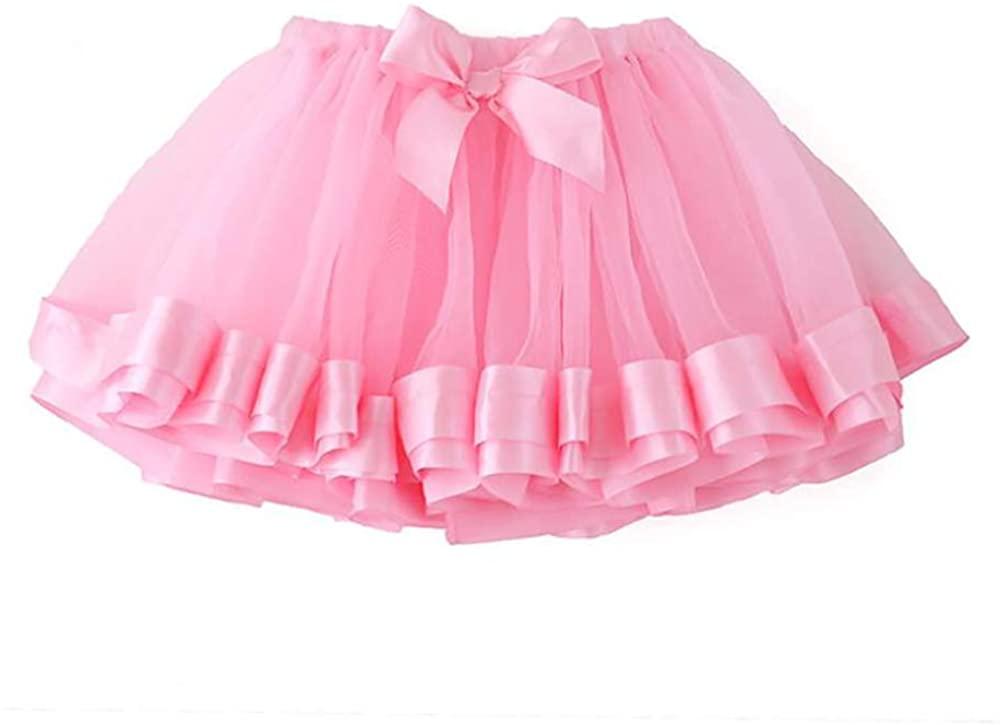 Tutu Skirts for Girls Toddler Ballet Skirt Classic Layers Tulle Tutu Skirt for Kids,Pink-4