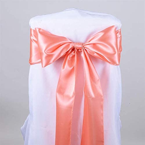 SARVAM FASHION New Pack of 50 Satin Chair Sashes Bow sash for Wedding and Events Supplies Party Decoration Chair Cover sash Bows (Gajari)