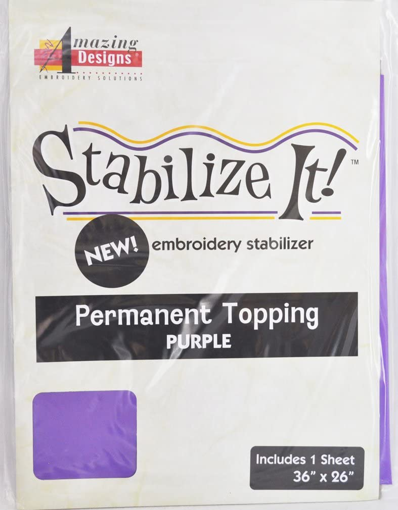 Stabalize It Embroidery Stabalizer. Permanent Topping Purple 1Yd